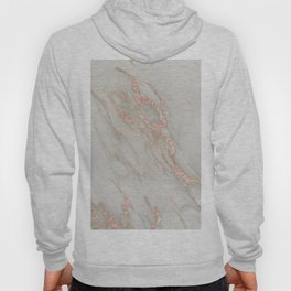 Marble - Rose Gold Marble Metallic Blush Pink Hoody