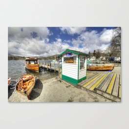 Rowing Boats at Ambleside  Canvas Print