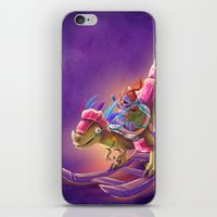 warcraft iPhone & iPod Skins featuring Raptor Swing - Warcraft by Heartmedia