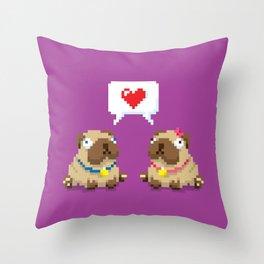 We're a Pug Match Throw Pillow