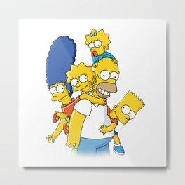 happy simpson family Metal Print