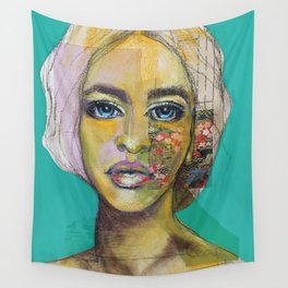Bea Turquoise Wall Tapestry