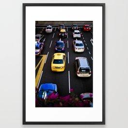 cars and traffic Framed Art Print