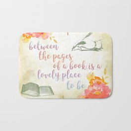 Between the pages of a book Bath Mat