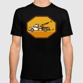 vintage tow wrecker truck side view retro T-shirt