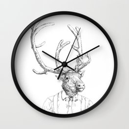 Hipster deer Wall Clock