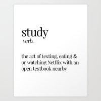 study Art Prints featuring Study by Liv B