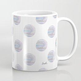Blue Watercolor Polka Dots Coffee Mug