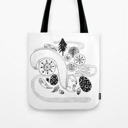 Squirrel in the forest Tote Bag