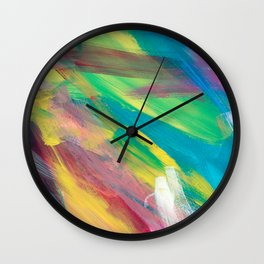 Abstract Artwork Colourful #2 Wall Clock