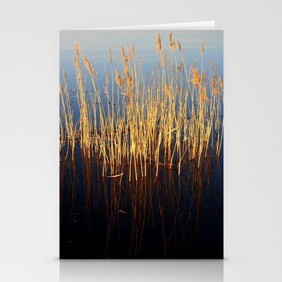 Water Reeds Stationery Cards
