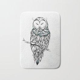 Poetic Snow Owl Bath Mat