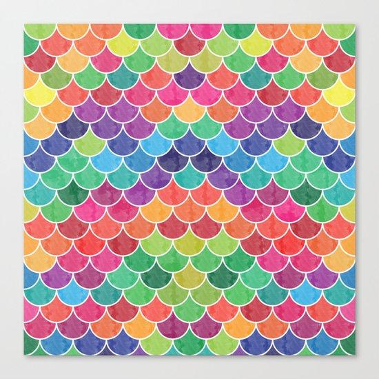 Watercolor Lovely Pattern VVXVI Canvas Print