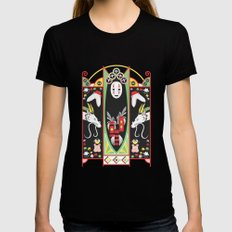 Spirited Deco Womens Fitted Tee Black X-LARGE