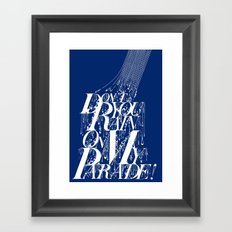 Don't You Rain On My Parade! Framed Art Print