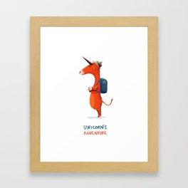 Unicorn's adventure Framed Art Print