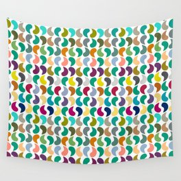 Seamless Colorful Geometric Shapes Pattern II Wall Tapestry
