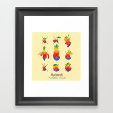 mac forbidden fruits Framed Art Print