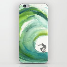 Wave with Surfer iPhone Skin
