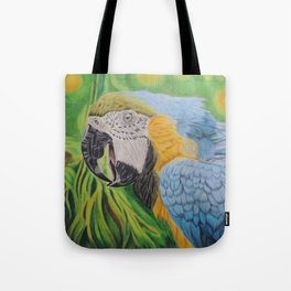 Macaw in the Jungle Tote Bag