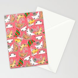 """Oro?"" Christmas PINK Stationery Cards"