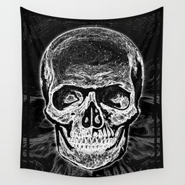 Skull (Black and White) Wall Tapestry