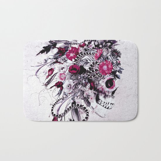 Skull Red Bath Mat
