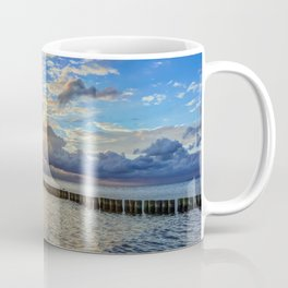 Beach in the morning after sunrise on Usedom Coffee Mug