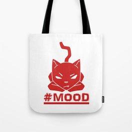 #MOOD Cat Red Tote Bag