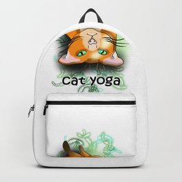 Cat yoga shavasana Backpack