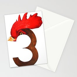 Cock-a-Three Stationery Cards