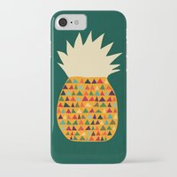 pineapple iPhone & iPod Cases featuring Pineapple by Picomodi