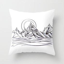 'Crystal Mountain Peaks' Throw Pillow
