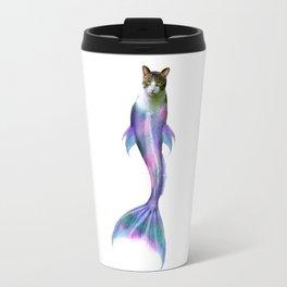 Cat Fish Purrmaid Pun Travel Mug