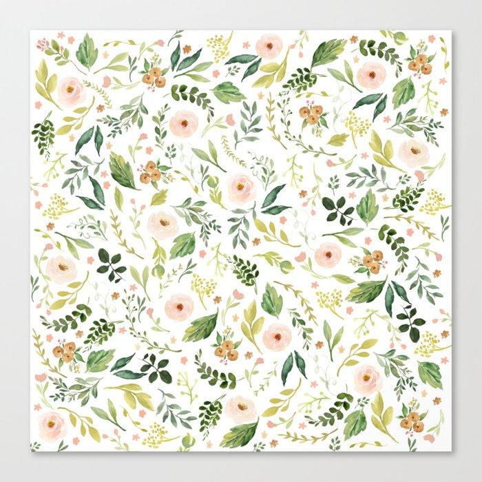 Botanical Spring Flowers Leinwanddruck