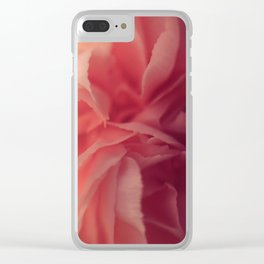 Carnation Close Up Clear iPhone Case