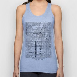 Las Vegas Map White Unisex Tank Top