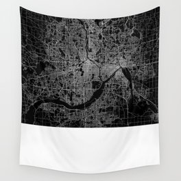 minneapolis map Wall Tapestry