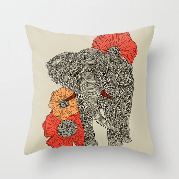Malawi Elephant Throw Pillow : The Elephant Throw Pillow by valentinaramos Society6