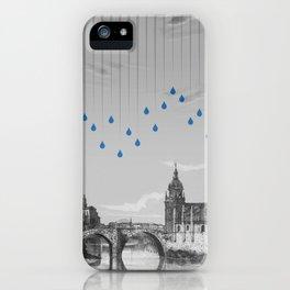 La lluvia en Bilbao es una pura maravilla iPhone Case