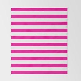 Horizontal Pink Stripes Throw Blanket