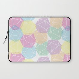 Pastel D20 Pattern Dungeons and Dragons Dice Set Laptop Sleeve