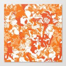 My orange butterflies Canvas Print