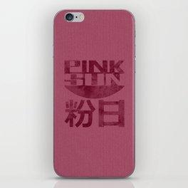 Pink Sun - Dark iPhone Skin