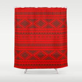 Tribal #9 * Ethno Ethnic Aztec Navajo Pattern Boho Chic Shower Curtain