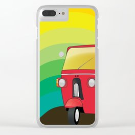 Tuk Tuk: Ride Waves of Color Clear iPhone Case