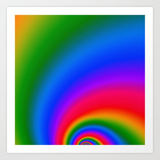 Magic Rainbow Art Print