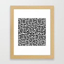 Black and White Futuristic Heiroglyphs Framed Art Print