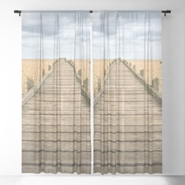 Beach Walkway Sheer Curtain