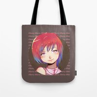 cherry Tote Bags featuring Cherry by EY Cartoons